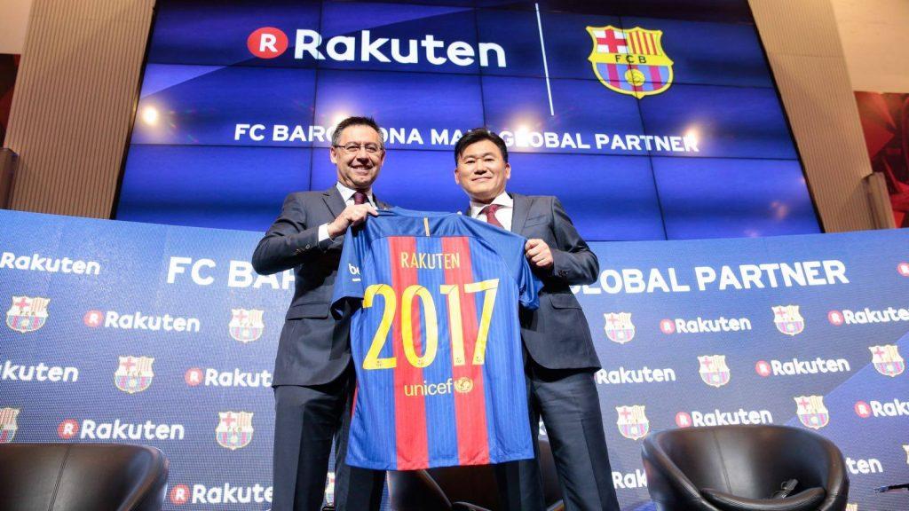Barcelona Rakuten Sponsor