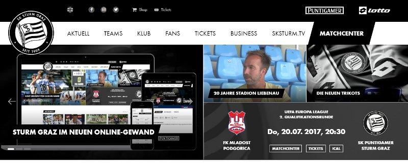 Homepage SK Sturm neu