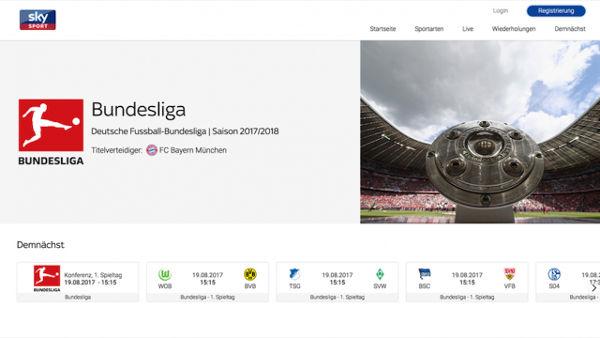 Sky Schweiz Homepage
